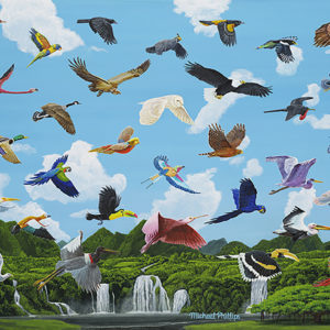 """Birds Not Of A Feather Flocking Together."" - Artist Michael Phillips"