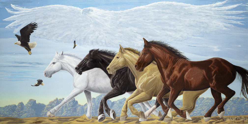"""Four Directions. Seven Grandfathers. The Eagle's Way."" Limited Edition Fine Art Prints on Canvas, Paper or Metal"