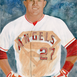 """Mike Trout. He's Super, Man."" - Artist Michael Phillips"