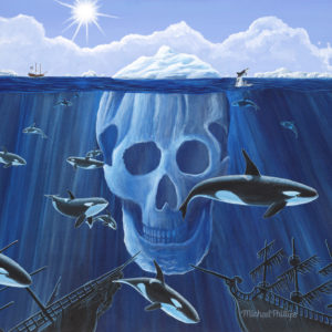 """Pirates of the Arctic Ocean."" - Artist Michael Phillips"