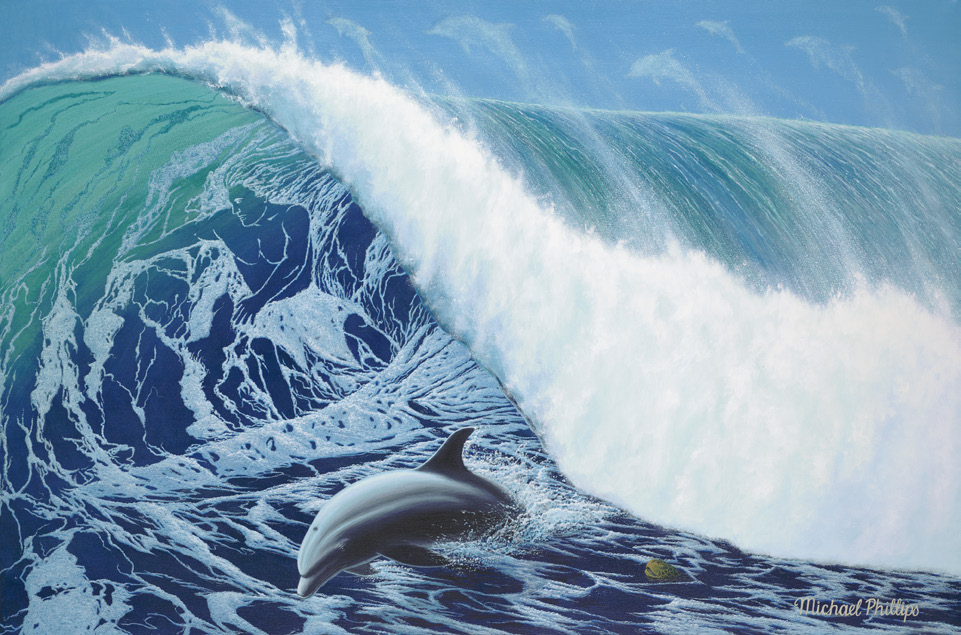"""Spirit of the Wave."" Artist Michael Phillips. Limited Edition Fine Art Prints on Canvas, Paper or Metal"