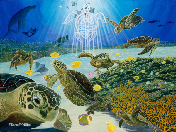"""""""The Angel of Turtle Town."""" - Artist Michael Phillips"""