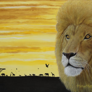 """A Lion's Roar."" - Artist Michael Phillips"